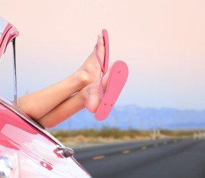 Enjoying summer in a Cabriolet