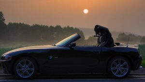 bmw z4 cabriolet folding roof